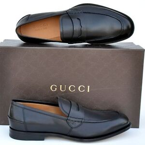 981d22851bc GUCCI New sz UK 11.5 US 12.5 Designer GG Mens Leather Dress Loafers ...