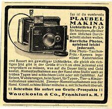 Wauckosin & Co. Frankfurt a.M. Plaubel Makina Kamera Historische Annonce v.1929