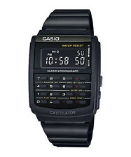 Vintage Casio CA-506B-1A CA-506 Unisex Data Bank Calculator Watch Black NEW