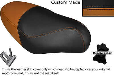 BLACK STITCH CUSTOM FITS HONDA CB 250 RS DUAL LEATHER SEAT COVER ONLY