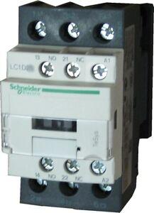 schneider electric lc1d32 b7 32 amp contactor 24v ac coil ebay. Black Bedroom Furniture Sets. Home Design Ideas