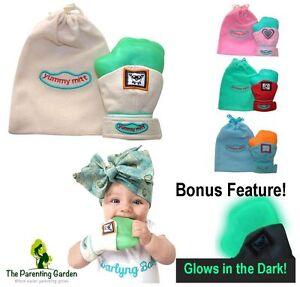 NEW-Yummy-Mitt-Teething-Mitten-Glove-3-12-Months-Glow-in-the-Dark-Silicone