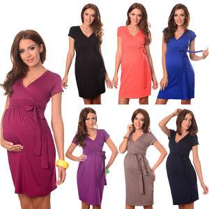 Détails sur Maternité robe de cocktail col en V vêtements de grossesse Wear taille 8 10 12 14 5416 afficher le titre d'origine