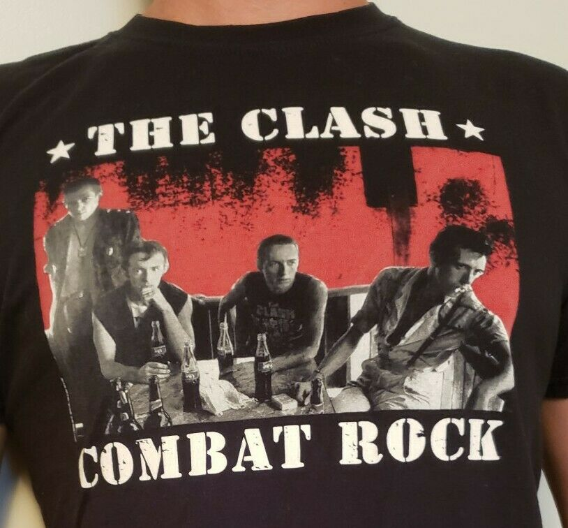 The Clash Graphic Band T Mens Large Black Shirt - image 2