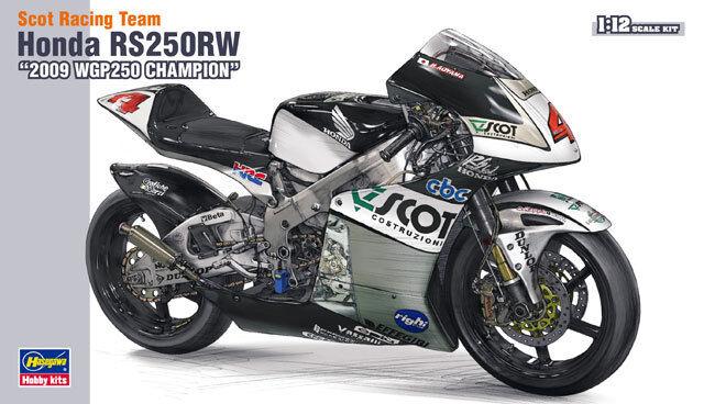 Equipo Hasegawa, honda nr 250 RW 2009 WGP 250 campeón 1   12 plástico modeloo