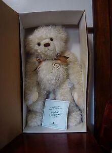ASHTON DRAKE 22 INCH WHITE PERFECT COMPANION TEDDY BEAR
