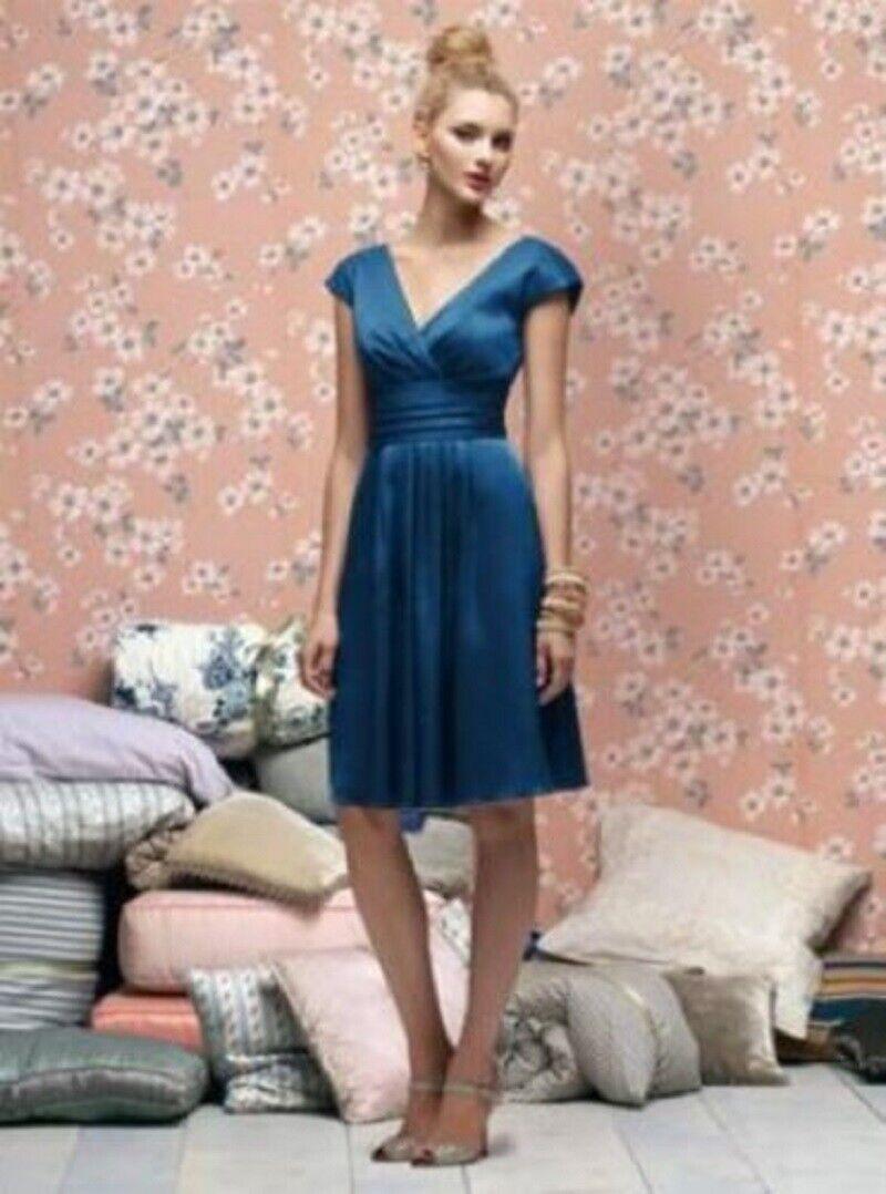 Lela Rose Bridesmaid Dress LR166.....Comet (Blue)...Size 16