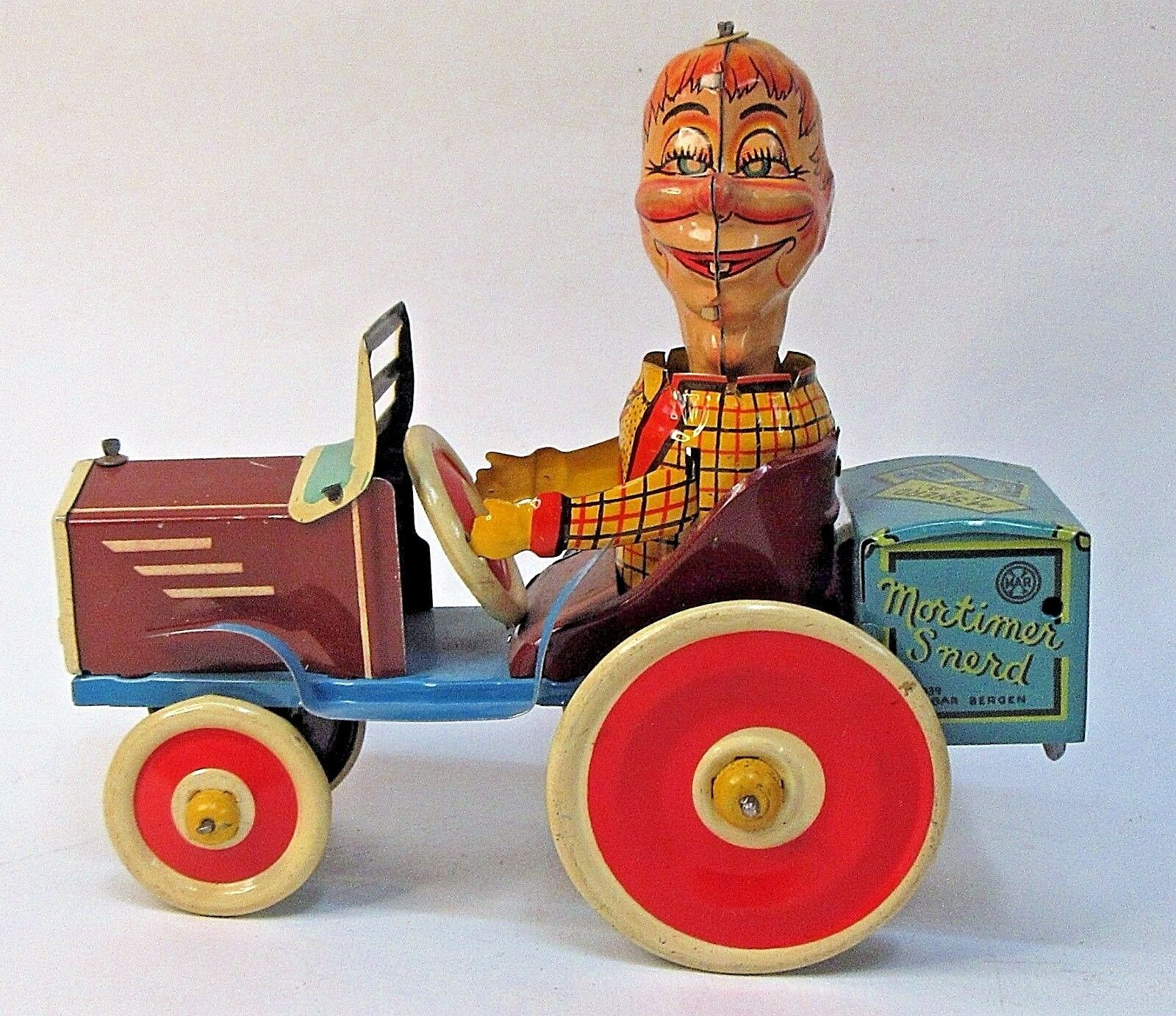 1939 MORTIMER SNERD TRICKY AUTO  Marx tin litho windup BOXED high grade