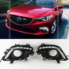 2x For Mazda 6 M6 Atenza 2013-2015 White LED Daytime Day Fog Lights DRL Run lamp