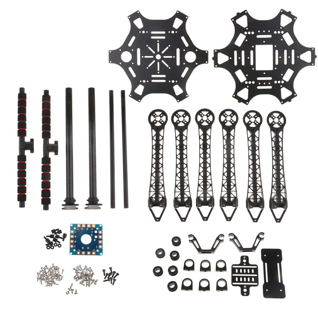 S550 F550 Upgrade Hexacopter Frame Kit PCB  with autobon Fiber Leing Gear  promozioni di squadra