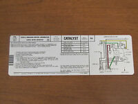 1979 Firebird Trans Am Emission Decal, 6.6 400 With Manual Trans