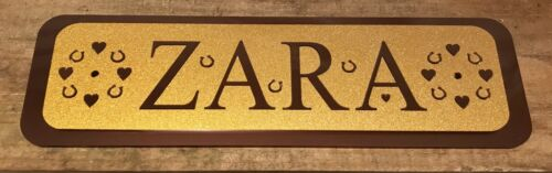 Horse//Pony Name Personalised Stable Door Signs Horse Name Plate Plaques1