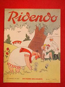 REVUE-HUMORISTIQUE-RIDENDO-N-240-MAI-1960-LES-FLEURS-DES-CHAMPS