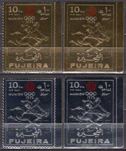#787 - Fujeira - Francobolli (silver + Gold) Monaco, 1971 - Nuovi (** Mnh) Pour Effacer L'Ennui Et éTancher La Soif
