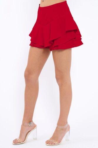 Ladies Skort women/'s  Frill Mini Skirt Shorts SKORT