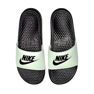 222f9498384e Nike Womens Benassi JDI Sliders Slip On Slides Pool Sandals Spruce ...