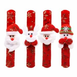 10pcs-Non-woven-Christmas-Slap-Bracelet-Xmas-Wristband-Pat-Hand-Party-Favors