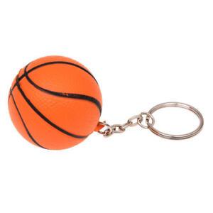 Orange-Basketball-Form-Dekor-Charme-Schluesselkette-aufgeteilter-Schluesselri-OE