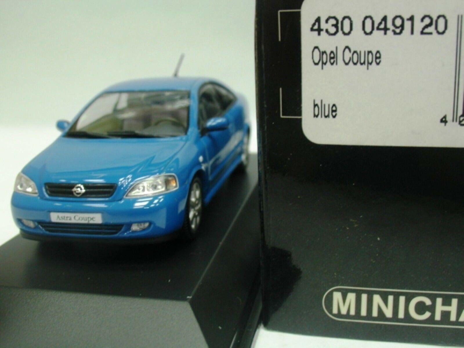 WOW estremamente raro OPEL ASTRA G COUPE 2.0L Turbo 2000 RIV blu 1 43 Minichamps
