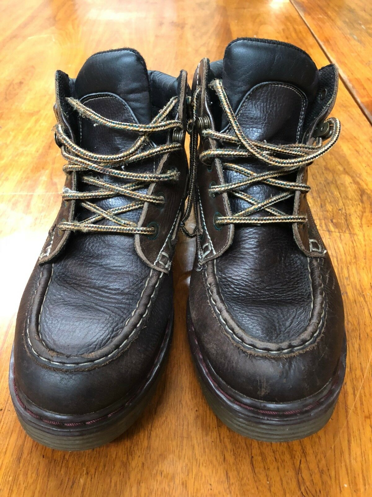 Arizona Jean Company Mens Brown Leather Ankle Hiking Boots Size 9.5 M