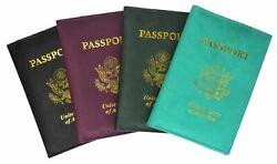 Neu USA Leder Passport Hülle Geldbörse Kredit Atm Kartenhülle Id Halter Brand