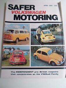 Vintage-Illustrated-Magazine-VOLKSWAGEN-SAFER-MOTORING-April-1981-Advertising