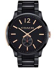 COACH Men's Bleecker Black Ion-Plated Stainless Steel Bracelet Watch 14602080