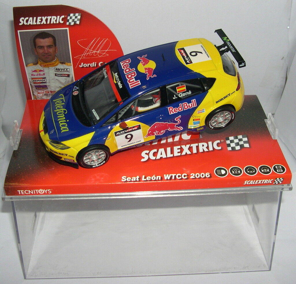 Scalextric 6235 Seat Leon Wtcc   9 2006 rosso Bull Jordi Gene MB  qualità ufficiale