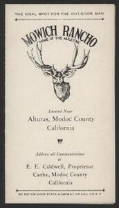 1920s-MOWICH-RANCHO-Alturas-Calif-Brochure