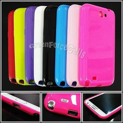 TPU Silicone Phone Case Soft Skin cover for Samsung Galaxy NOTE 2 II N7100 Lot