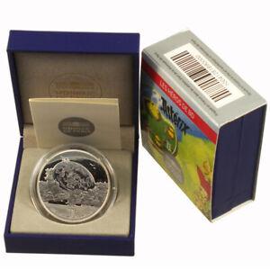 Frankreich-10-Euro-Gedenkmuenze-2013-PP-Asterix-Silber-im-Etui-Proof-Zertifikat