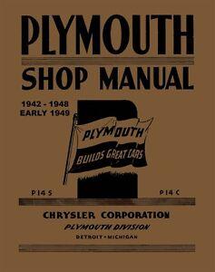 1942 1943 1944 1945 1946 1947 1948 1949 plymouth shop service repair rh ebay com 1947 Plymouth 1949 plymouth repair manual