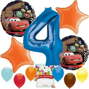 Cars Party Supplies Balloon Decoration Bundle for 4th Birthday
