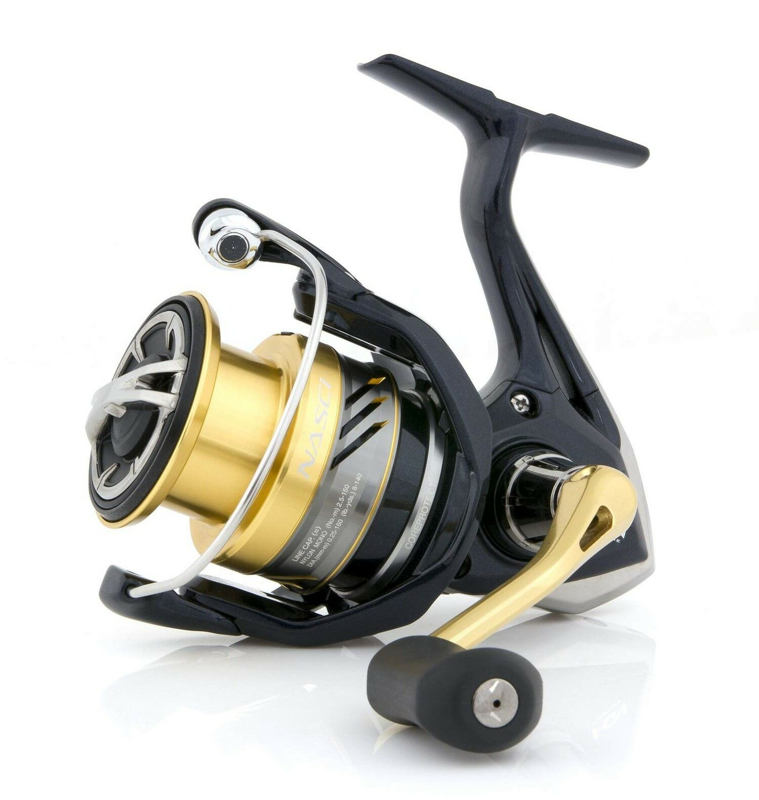 SHIMANO Nasci C 2000 S FB, Spinning Fishing Reel with Shallow Spool, NASC2000SFB