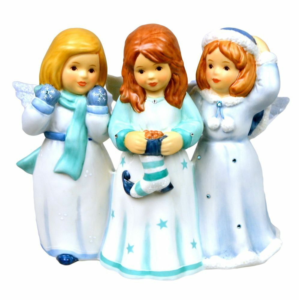 Goebel Weihnacht Engel    Engelgruppe, eisblau   blaues Engeltrio