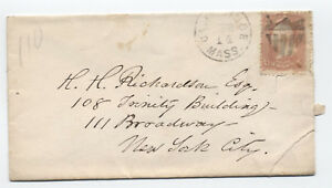 1860s-Cambridge-MA-shield-fancy-cancel-on-65-cover-y2338