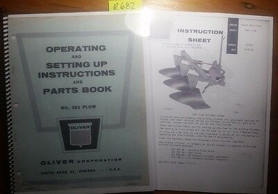Oliver Setting Up /& Parts Book No.4340 3 /& 4 Bottom Plows