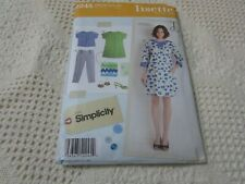 Lisette Simplicity 2245 Misses Dress Top Slim Pants Sewing Pattern Sz 6-14 Cut