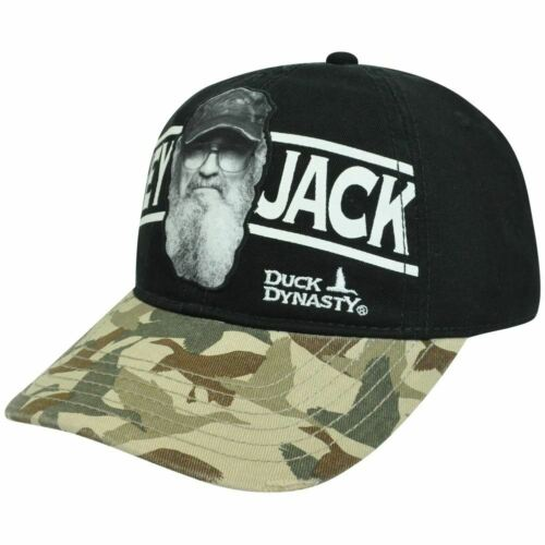 A/&E Duck Dynasty Series Camouflage Si Hey Jack Distressed Clip Buckle Hat Cap