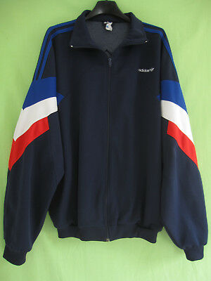 Veste Adidas 90'S Marine Equipe de France Vintage Oldschool Jacket 192 XXL | eBay