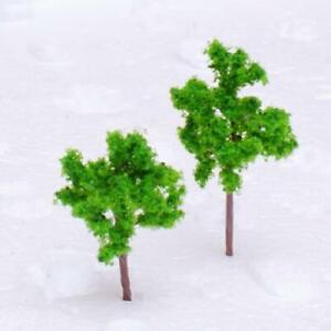 4cm Green Pine Trees Model fit Z Scale Railways Street Park Layout Approx. 50pcs