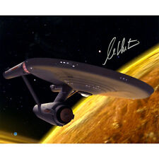 Star Trek Captain Kirk William Shatner Signed Spaceship 16x20 Photo Steiner COA