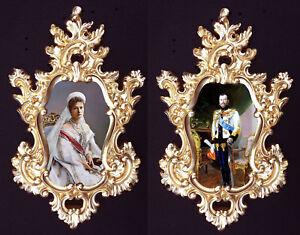 Alexandra and Nikolay II in Baroque frame.Last Russian Royal ...