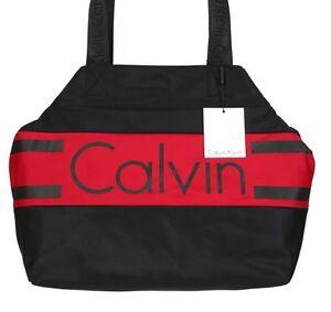 Klein elegante nylon negro de Nuevo de bolso bolso rojo Calvin mano RqHwd7H