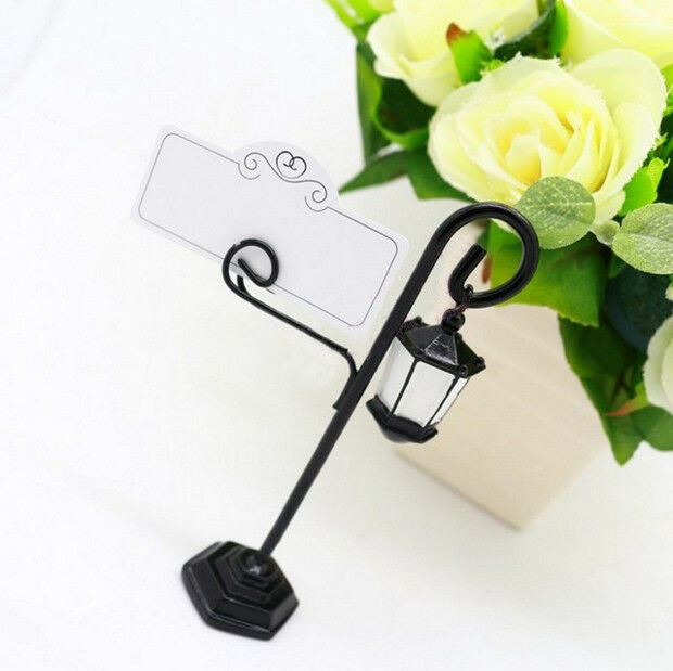 1x Marker Decor Name Place Table Card Holder Streetlamp Clip For Wedding Party