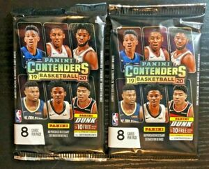 2019-20-Panini-Contenders-Basketball-Blaster-Box-Pack-Zion-rookie-HOT-LOT-OF-2