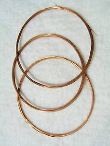 "Phosphor Bronze Wire-3m(9' 10""long)- A SELECTION OF 12 SIZES-Crafts, Industrial"