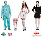 BLOODY SURGEON NURSE COSTUME SCARY DAUGHTER Zombie Doctor Halloween Fancy Dress