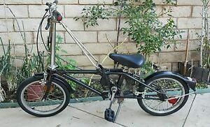 Vintage-1980s-Dahon-Stainless-Steel-3-Speed-Sturmey-Archer-Folding-Bike-Metallic
