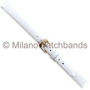 10mm-Speidel-Lizard-Grain-White-Genuine-Leather-Unstitched-Ladies-Watch-Band